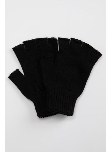 DeFacto Basic Kesik Eldiven Siyah